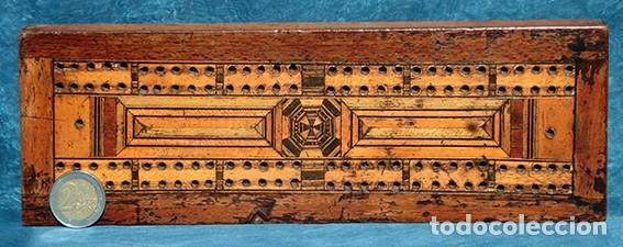 Antigüedades: ANTIGUA Y PRECIOSA TAPA DE MADERA - MARQUETERÍA - JUEGO - INCENSARIO - AMBIENTADOR - DECORACIÓN - Foto 5 - 223848700