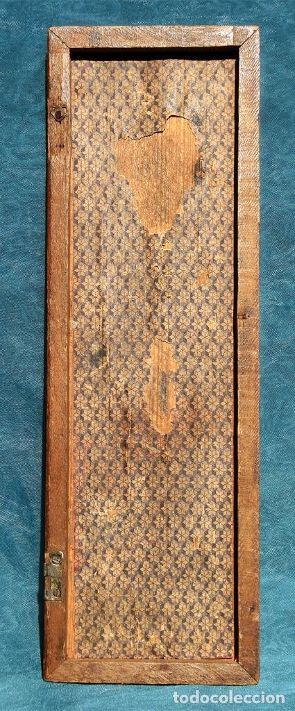 Antigüedades: ANTIGUA Y PRECIOSA TAPA DE MADERA - MARQUETERÍA - JUEGO - INCENSARIO - AMBIENTADOR - DECORACIÓN - Foto 6 - 223848700