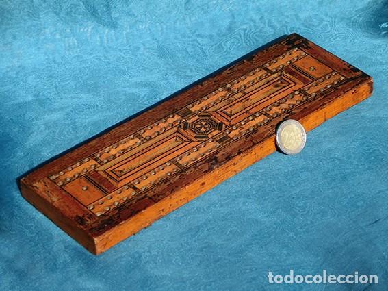 Antigüedades: ANTIGUA Y PRECIOSA TAPA DE MADERA - MARQUETERÍA - JUEGO - INCENSARIO - AMBIENTADOR - DECORACIÓN - Foto 9 - 223848700