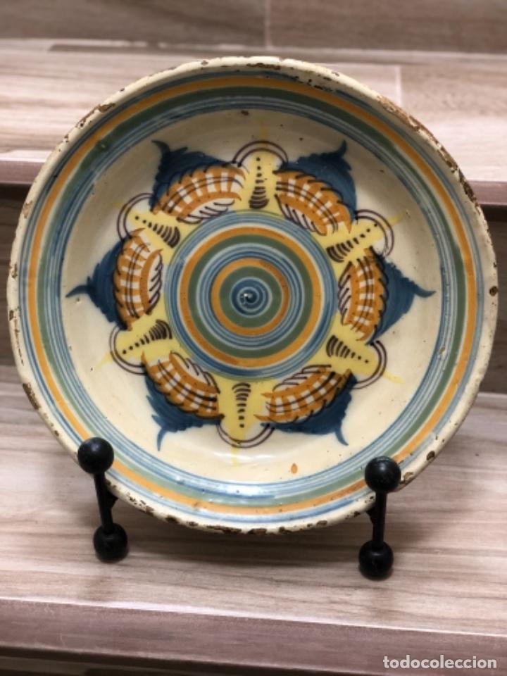 INUSUAL PLATO EN CERÁMICA DE TRIANA ( SEVILLA) (Antigüedades - Porcelanas y Cerámicas - Triana)