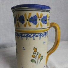 Antigüedades: CERAMICA TALAVERA ANTIGUA, FIRMADA LA TALABRICENSE, N°17,PINTADA A MANO, JARRA.. Lote 223871443