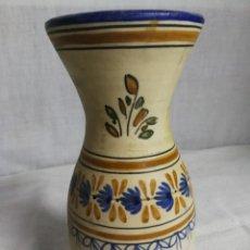 Antigüedades: CERAMICA TALAVERA ANTIGUA, FIRMADA LA TALABRICENSE, N°12,PINTADA A MANO, JARRÓN. .. Lote 223871716