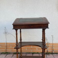 Antigüedades: MUEBLE AUXILIAR ESCRITORIO DAVENPORT INGLES TAPA ABATIBLE 82X52X46CMS. Lote 223897722