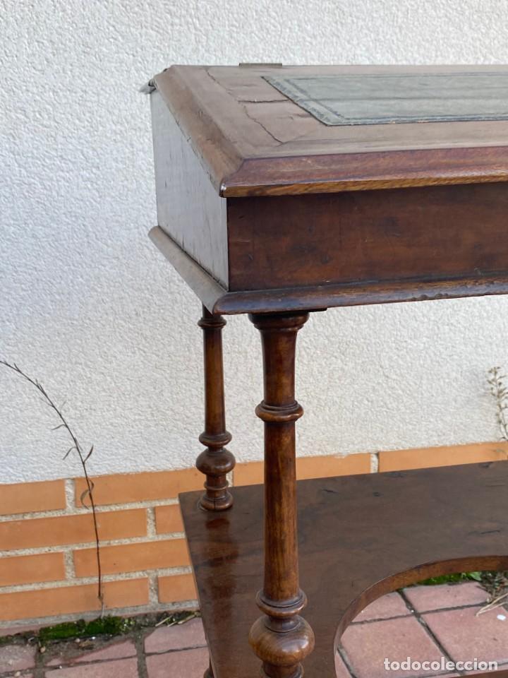 Antigüedades: MUEBLE AUXILIAR ESCRITORIO DAVENPORT INGLES TAPA ABATIBLE 82X52X46CMS - Foto 2 - 223897722