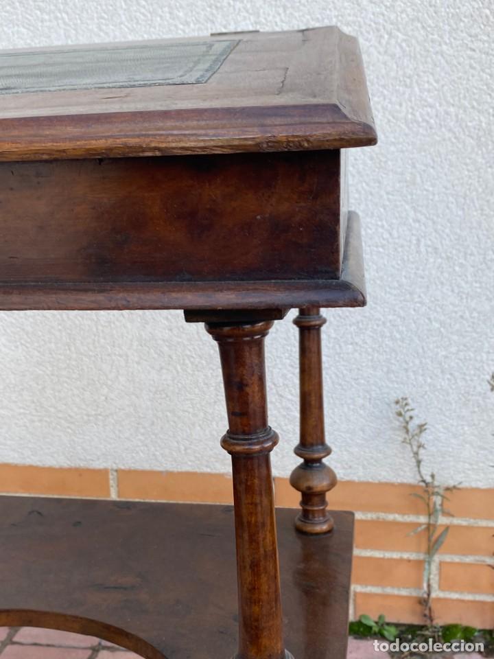 Antigüedades: MUEBLE AUXILIAR ESCRITORIO DAVENPORT INGLES TAPA ABATIBLE 82X52X46CMS - Foto 4 - 223897722