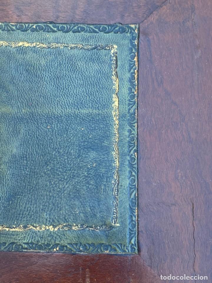 Antigüedades: MUEBLE AUXILIAR ESCRITORIO DAVENPORT INGLES TAPA ABATIBLE 82X52X46CMS - Foto 19 - 223897722