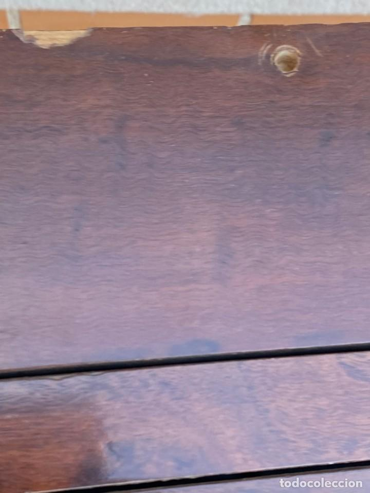 Antigüedades: MUEBLE AUXILIAR ESCRITORIO DAVENPORT INGLES TAPA ABATIBLE 82X52X46CMS - Foto 23 - 223897722