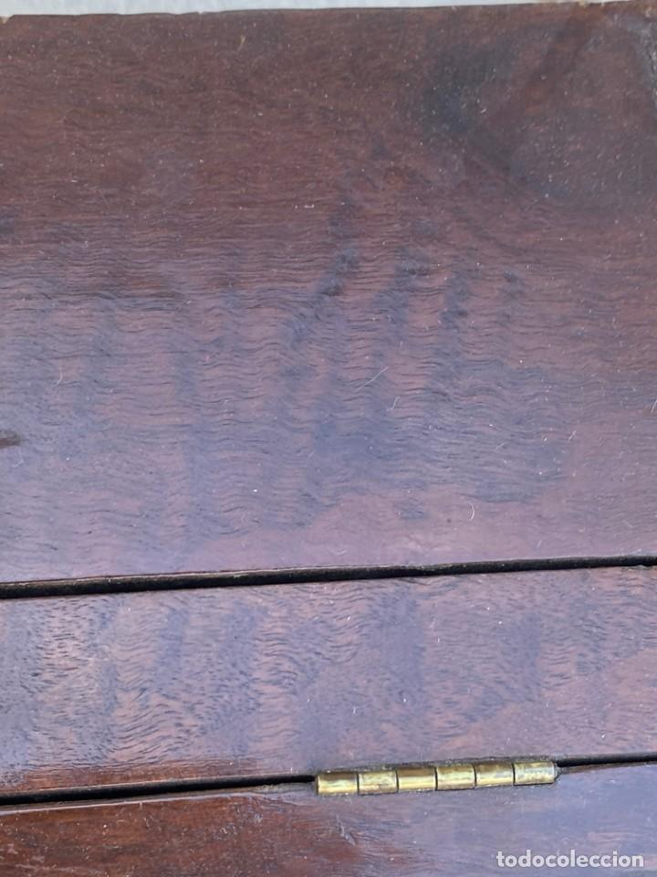 Antigüedades: MUEBLE AUXILIAR ESCRITORIO DAVENPORT INGLES TAPA ABATIBLE 82X52X46CMS - Foto 25 - 223897722