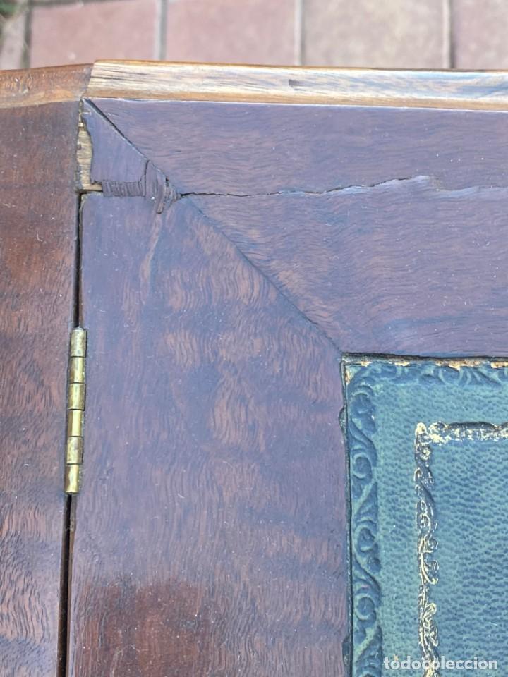 Antigüedades: MUEBLE AUXILIAR ESCRITORIO DAVENPORT INGLES TAPA ABATIBLE 82X52X46CMS - Foto 36 - 223897722