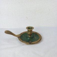Antigüedades: ANTIGUA PALMATORIA DE BRONCE EN COLOR VERDE. Lote 223924146