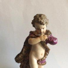 Antiquités: ANTIGUA PORCELANA DE MEISSEN,SIGLO XIX,MARCA EN BASE ,ALTURA 13 CM. Lote 223934943
