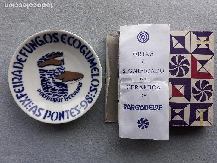 Antigüedades: Platillo Sargadelos. IX Feira de Fungos e Cogumelos. As Pontes 1998. - Foto 3 - 223949732