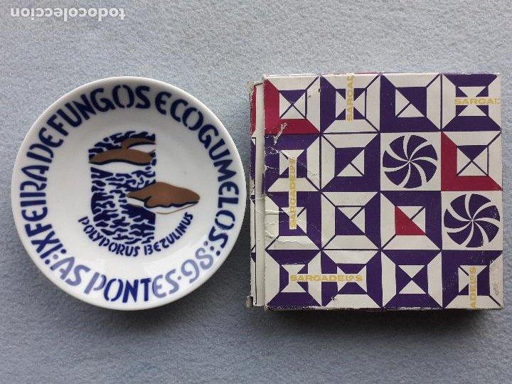 Antigüedades: Platillo Sargadelos. IX Feira de Fungos e Cogumelos. As Pontes 1998. - Foto 5 - 223949732