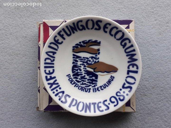 PLATILLO SARGADELOS. IX FEIRA DE FUNGOS E COGUMELOS. AS PONTES 1998. (Antigüedades - Porcelanas y Cerámicas - Sargadelos)