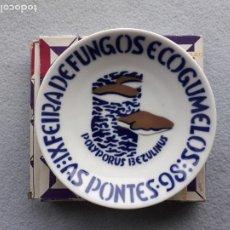 Antigüedades: PLATILLO SARGADELOS. IX FEIRA DE FUNGOS E COGUMELOS. AS PONTES 1998.. Lote 223949732
