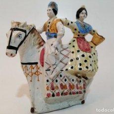 Antigüedades: BOTIJO DE VALENCIA CERAMICA, FINAL XIX PRINCIPIOS XX, (27X27). Lote 223955118