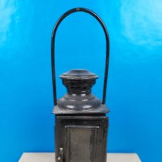Antigüedades: PRECIOSO FAROL MODIFICADO CON SISTEMA ELECTRICO 7 X 30 CM. Lote 223963121