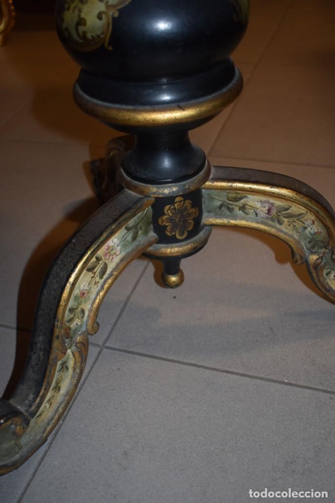 Antigüedades: ESPECTACULAR MESA ABATIBLE PINTADA A MANO - Foto 18 - 223974106