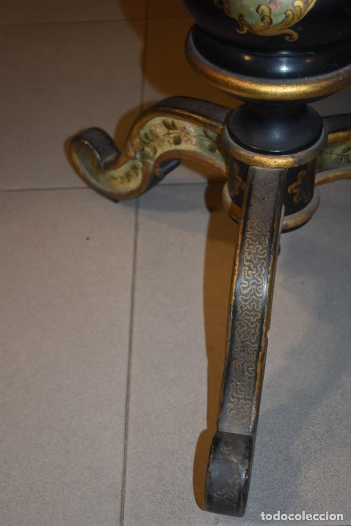 Antigüedades: ESPECTACULAR MESA ABATIBLE PINTADA A MANO - Foto 27 - 223974106