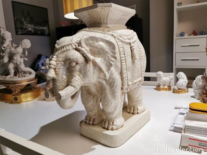 FIGURA ANTIGUA ELEFANTE (ALGORA) (Antigüedades - Porcelanas y Cerámicas - Algora)