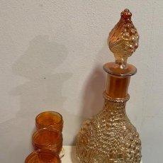 Antigüedades: CARNIVAL GLASS, SERVICIO DE LICOR.. Lote 223994391