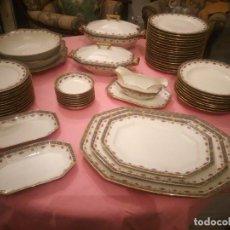 Antigüedades: VAJILLA DE PORCELANA RAYNAUD & Cº LIMOGES FRANCE.GIRARDIN-SANTSCHI. 55 PIEZAS. Lote 224034058