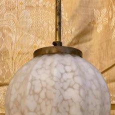 Antiquités: LAMPARA ANTIGUA DE 45 CMS. DE ALTURA LA TULIPA TIENE 20 CMS.. Lote 224053603