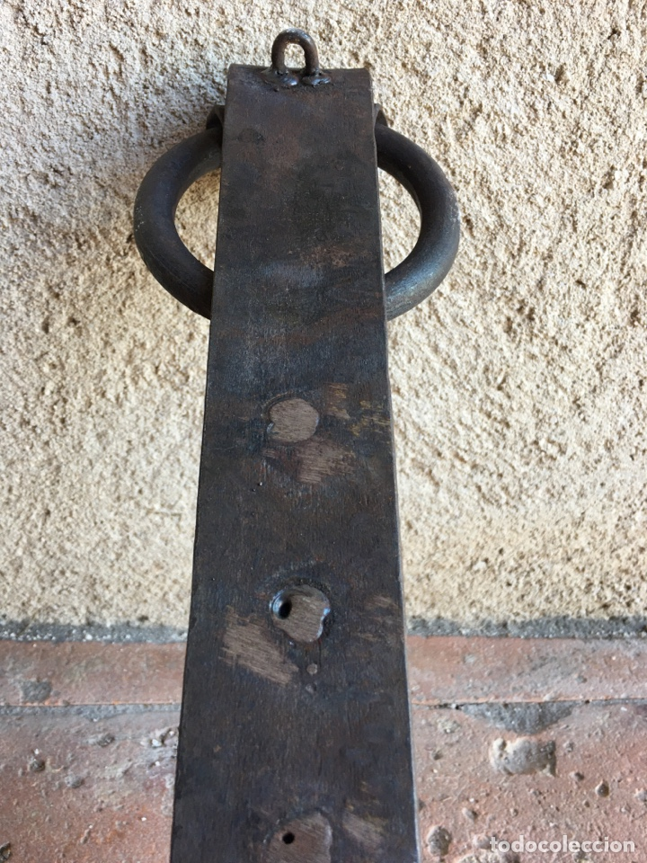 Antigüedades: Aplique o portavelas antiguo de forja para pared - Hierro, candil, candelero, vela - Foto 6 - 224057821