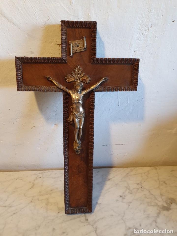 CRUCIFIJO MADERA (Antigüedades - Religiosas - Crucifijos Antiguos)