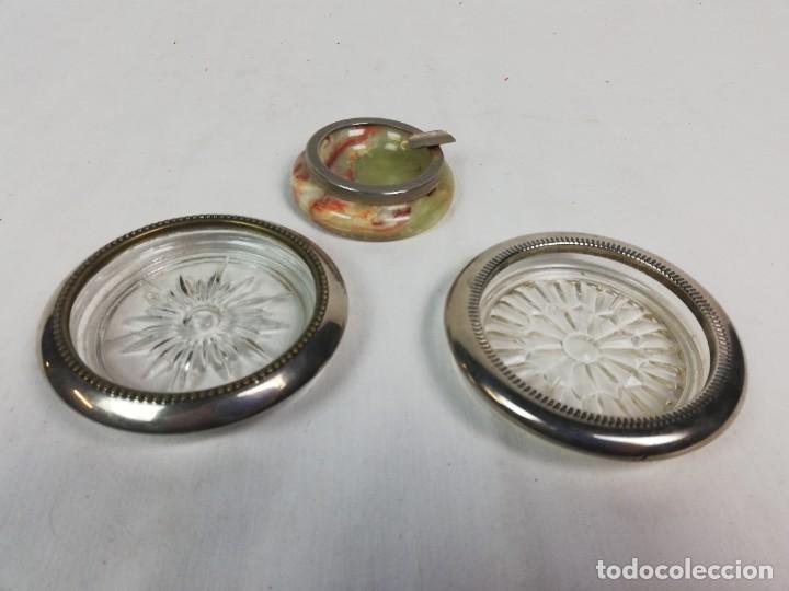 Antigüedades: LOTE VARIADO DE 3 CENICEROS CRISSTAL Y PIEDRA -COLECCIONISTAS - Foto 2 - 224084572