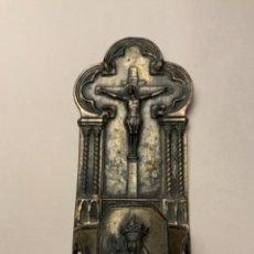 Antigüedades: BENDITERA VIRGEN MONTSERRAT. Lote 224107890