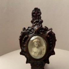 Antigüedades: BENDITERA IMAGEN CRISTO NAZARENO (S.XIX,SEPIOLITA). Lote 224110252