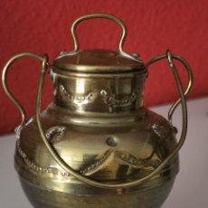 Antigüedades: ANTIGUA PEQUEÑA VASIJA DE LATÓN.. Lote 224114267