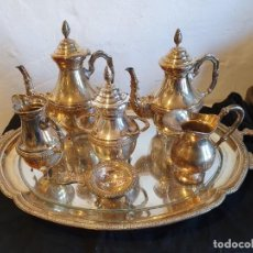 Antigüedades: JUEGO DE CAFE Y TE ALPACAR 7 PIEZAS. Lote 224151091