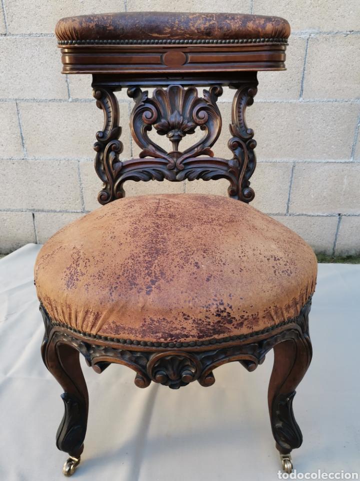 SILLA VICTORIANA DEL XIX (Antigüedades - Muebles Antiguos - Sillones Antiguos)
