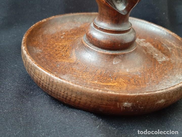 Antigüedades: PALMATORIA DE MADERA IGLESIA - Foto 3 - 224176287