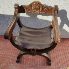 Antiguidades: ANTIGUA SILLA JAMUGA MADERA MACIZA. Lote 224261550