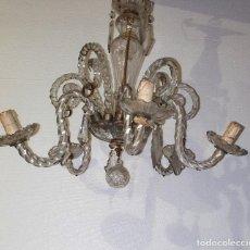Antigüedades: ANTIGUA LAMPARA DE CRISTAL. Lote 224271212
