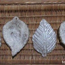 Antigüedades: 4 HOJAS DE CRISTAL DE MURANO. Lote 224295870