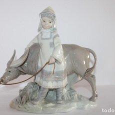 Antiquités: FIGURA DE PORCELANA LLADRÓ: NIÑA DE MANCHURIA HECHO A MANO ESPAÑA. Lote 224308138
