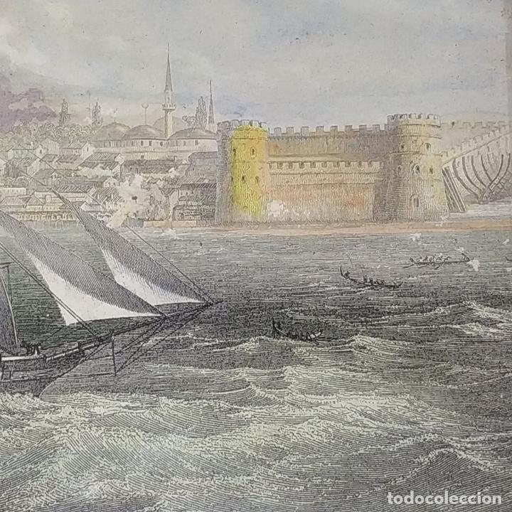 Antigüedades: 2 MARCOS ISABELINOS. MADERA CON INCRUSTACIONES EN METAL Y MADERA. ESPAÑA. SIGLO XIX - Foto 6 - 224319253