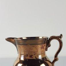 Antigüedades: ANTIGUA JARRA PORCELANA BRISTOL INGLATERRA S. XIX. REFLEJO METALICO. Lote 224320567