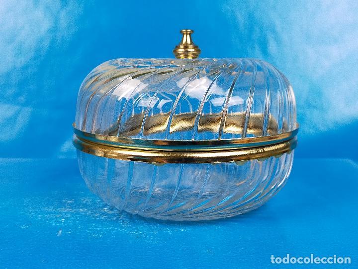 PRECIOSO RECIPIENTE BOTE PARA TOCADOR EN CRISTAL (Antigüedades - Cristal y Vidrio - Otros)