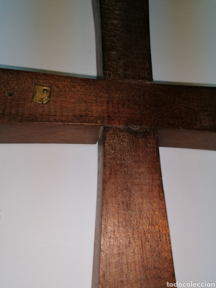 Antigüedades: Cruz Modernista en madera noble - Foto 4 - 224322713