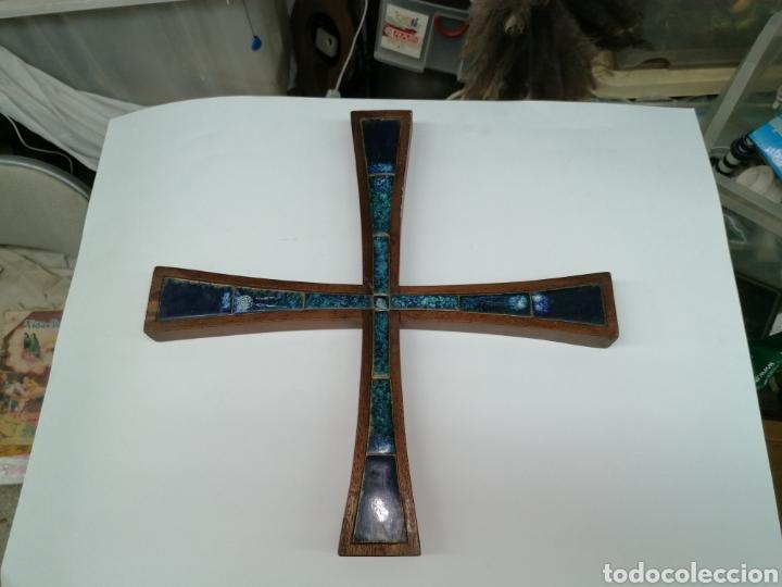 Antigüedades: Cruz Modernista en madera noble - Foto 7 - 224322713