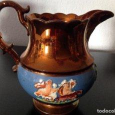 Antigüedades: JARRA DE BRISTOL. 14 CM DE ALTURA. Lote 224333546