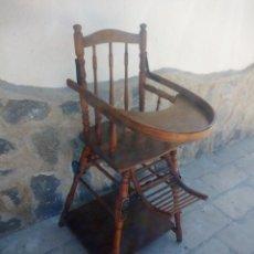 Antigüedades: ANTIGUA TRONA TACA TACA DE BEBÉ DE MADERA DE HAYA VER FOTOS,ESTILO THONET, AÑOS 20. Lote 224392108