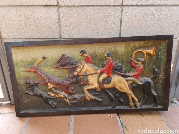 Antigüedades: Cuadro madera tallada grande - Foto 2 - 224394361