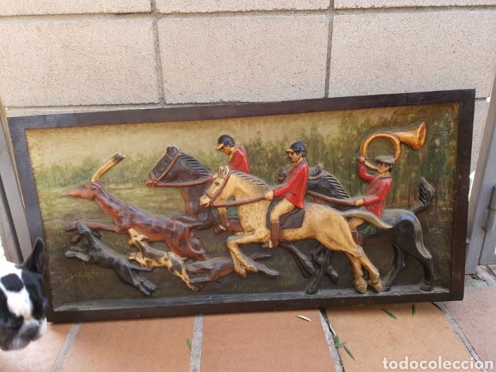 Antigüedades: Cuadro madera tallada grande - Foto 3 - 224394361