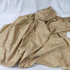 Antigüedades: TEJIDO ADAMASCADO, DE RAYAS. Lote 224419858